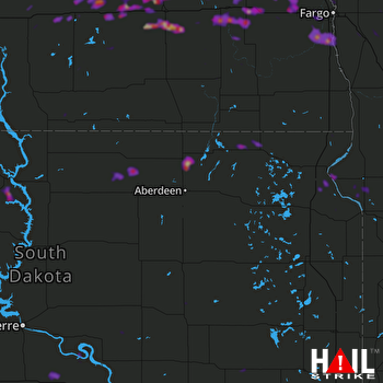 Hail Map Valley City, ND 08-26-2018