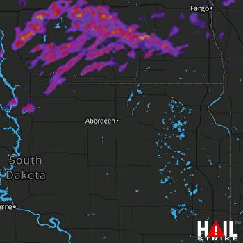 Hail Map Fergus Falls, MN 06-09-2021