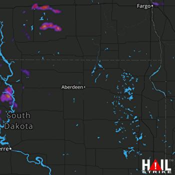 Hail Map ABERDEEN 07-04-2021