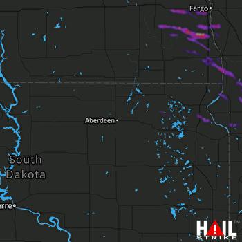 Hail Map Morris, MN 07-28-2021