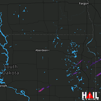 Hail Map Canby, MN 09-17-2021
