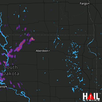 Hail Map Fort Yates, ND 05-17-2018