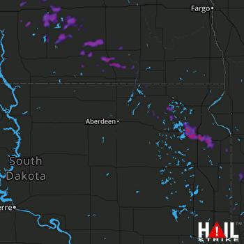 Hail Map Waubay, SD 07-10-2018