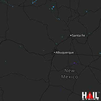 Hail Map ALBUQUERQUE 09-10-2019