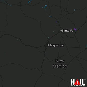 Hail Map Sapello, NM 05-29-2017
