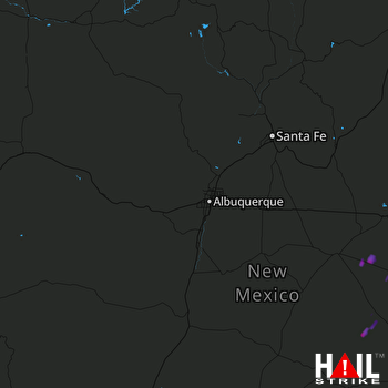 Hail Map ALBUQUERQUE 10-04-2017