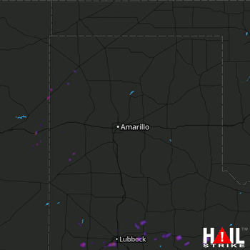 Hail Map Lubbock, TX 03-17-2020