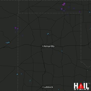 Hail Map Turpin, OK 07-04-2020
