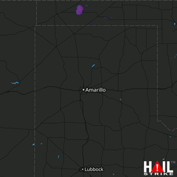 Hail Map AMARILLO 08-15-2020