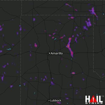 Hail Map Plainview, TX 08-17-2021