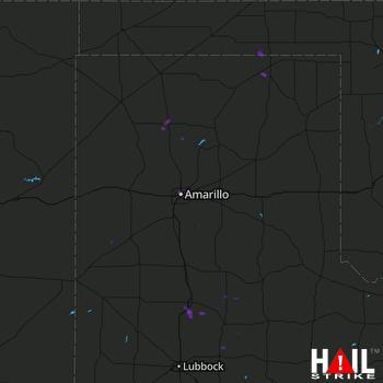 Hail Map Dumas, TX 07-16-2017
