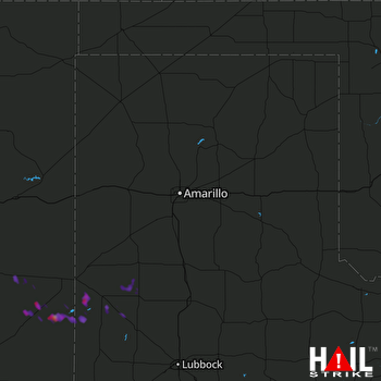Hail Map AMARILLO 09-25-2017