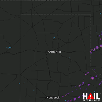 Hail Map Elk City, OK 10-21-2017