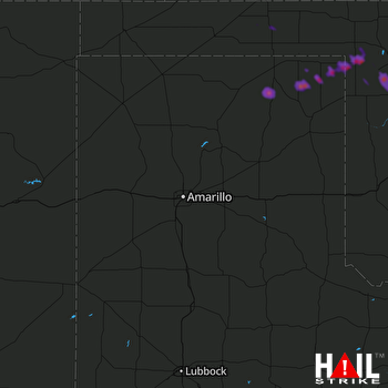 Hail Map Follett, TX 05-29-2018