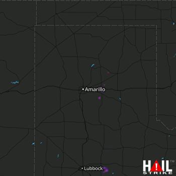 Hail Map Claude, TX 06-10-2018