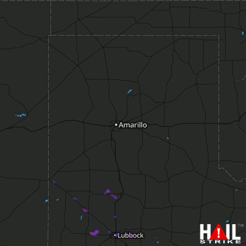 Hail Map Lubbock, TX 08-09-2018