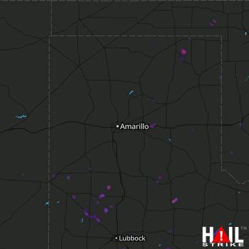Hail Map Olton, TX 08-10-2018