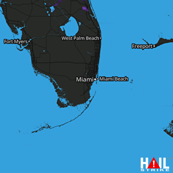 Hail Map Port Saint Lucie, FL 06-21-2021