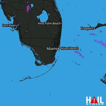 Hail Map Lake Placid, FL 10-10-2021