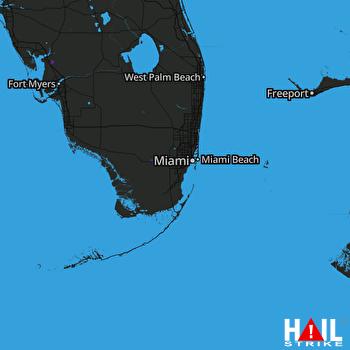Hail Map MIAMI 08-18-2017