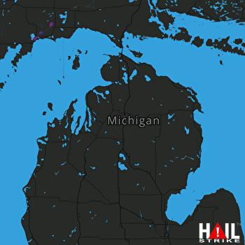 Hail Map Manistique, MI 05-23-2019