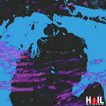 Hail Map Saginaw, MI 09-08-2021
