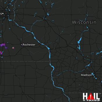 Hail Map Owatonna, MN 08-31-2018