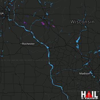Hail Map Fairchild, WI 06-14-2019