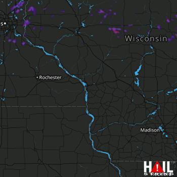 Hail Map Hudson, WI 07-15-2019