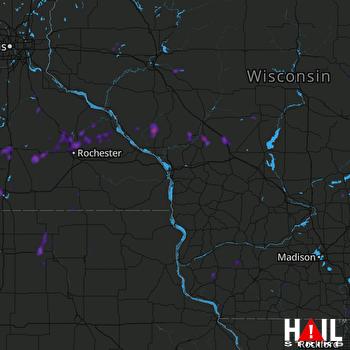 Hail Map Kasson, MN 07-20-2019