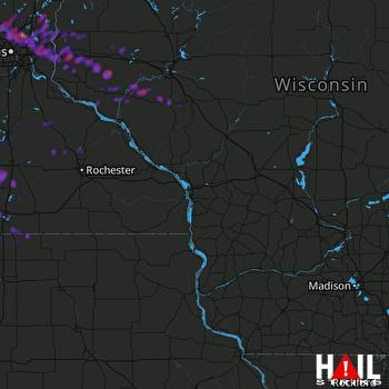 Hail Map Anoka, MN 07-27-2019