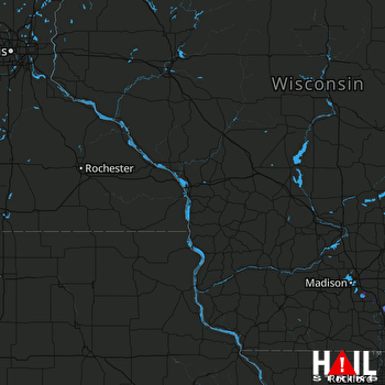 Hail Map Edgerton, WI 08-08-2019