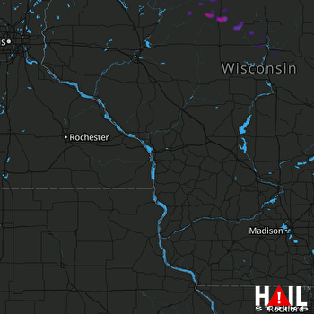 Hail Map Hawkins, WI 09-05-2019