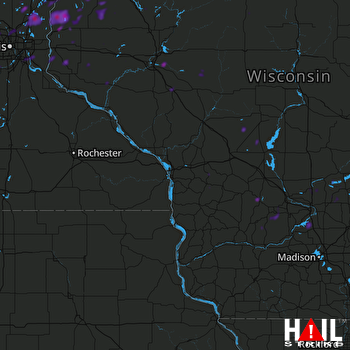 Hail Map Forest Lake, MN 07-19-2020