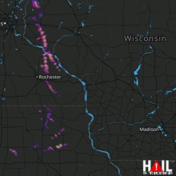 Hail Map New Richmond, WI 05-15-2021