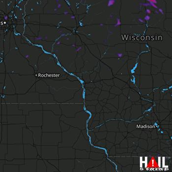 Hail Map Rice Lake, WI 06-09-2021