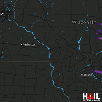Hail Map Neenah, WI 06-19-2021