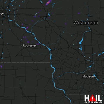 Hail Map Couderay, WI 06-28-2021