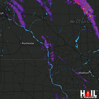 Hail Map Forest Lake, MN 07-29-2021