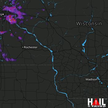 Hail Map Eden Prairie, MN 08-06-2021