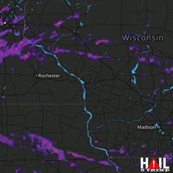 Hail Map Cedar Rapids, IA 08-24-2021