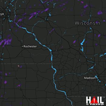 Hail Map Oshkosh, WI 08-29-2021