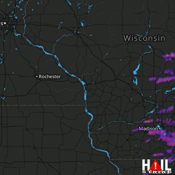 Hail Map Madison, WI 09-07-2021