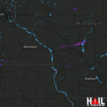 Hail Map Warrens, WI 09-14-2021