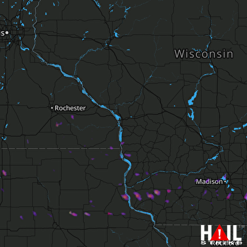 Hail Map Whitewater, WI 03-23-2017