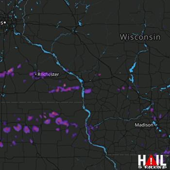 Hail Map Rochester, MN 05-15-2017