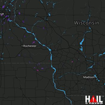 Hail Map Minneapolis, MN 05-16-2017