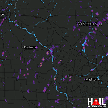 Hail Map Mankato, MN 05-17-2017