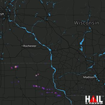 Hail Map Calmar, IA 05-23-2017