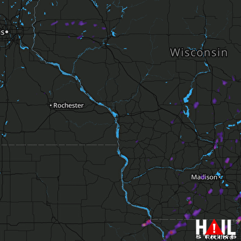 Hail Map Dubuque, IA 06-14-2017